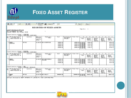 Fixed Asset Register Excel Template Ipro Software For Company Statutory E Forms Registers