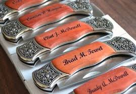 Groomsmen Gifts Knife Groomsmen Gift Set Of 7 Engraved Rosewood Hunting Knife Wi