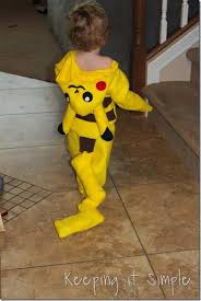 Pikachu Costume Diy Pokemon Pikachu Costume Keeping It Simple Crafts