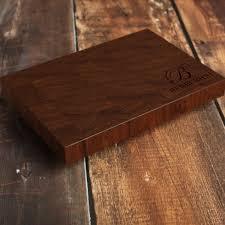 walnut personalized end grain cutting board custom end grain