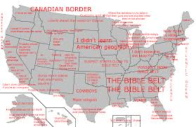map usa bible belt the ignorant canadian my map of america