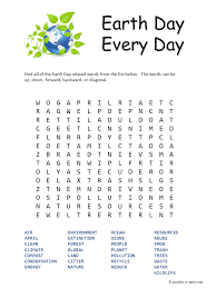 free printable earth day word search perfect for getting in the