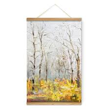 fall landscape yellow forest decoration wall pictures canvas