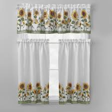 Sunflower Yellow Curtains by Ergonomic Sunflower Kitchen Curtains 17 Sunflower Kitchen Curtains