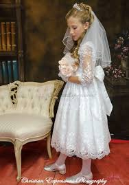 communion dress organza lace three quarter sleeves communion dress lace