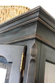 Annie Sloan Chalk Painted Kitchen Cabinets Annie Sloan Graphite Over Oak My Creations Pinterest Annie