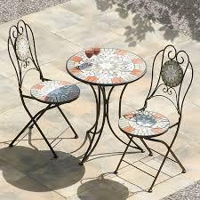 bistro sets outdoor patio furniture suntime star mosaic round bistro set u2013 the uk u0027s no 1 garden