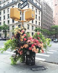 flowers nyc aromatic empty nyc trash bins turned into beautiful floral