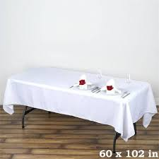 wholesale wedding linens white 60x102 polyester tablecloths efavormart