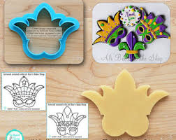 mardi gras cookie cutters mask cookie cutter etsy
