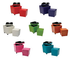 Rolling Ottoman With Storage by Fun Ideas Storage Ottoman Cube