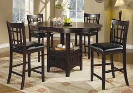 round counter height table set coaster lavon round counter height dining set cappucino