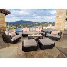 portofino comfort 7 piece seating set in espresso