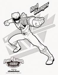 coloring pages powerranger red coloring
