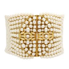 yellow gold bracelet with pearls images Bracelets gold silver platinum at reliable gold in ri jpg