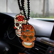 colored print skull totem badge car fashion pendant styling jdm