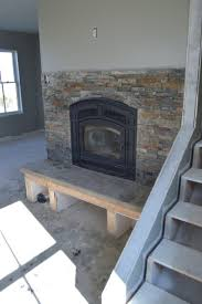 stone wall fireplace diy fireplace hearth and stacked stone wall tile newlywoodwards