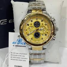 Jam Tangan Casio Gold jual jam tangan pria casio edifice ef 554 gold silver steel di lapak