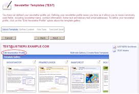 listserv tech tip how do i use the html newsletter templates in