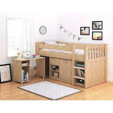 Kids Beds With Storage And Desk by Seconique Merlin Oak Effect Sturdy Mid Sleeper Kids Bed Storage
