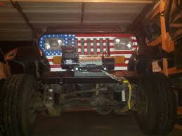 jeep american flag custom american flag grille insert jeep