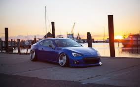 subaru brz stanced subaru brz slammed vip style sunset hd wallpaper cars