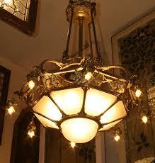 Art Nouveau Lighting Chandelier Art Nouveau Chandelier Antique Thesecretconsul Com