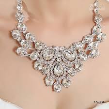 crystal diamond necklace images 2015 women 39 s girl 39 s crystal diamond prom evening cocktail jpg