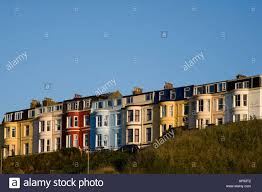 colourful guest houses on the clifftop north bay scarborough north