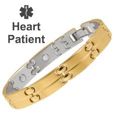 bracelet with magnetic images Gold magnetic medical id bracelet heart patient png