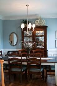 Dining Room Wall Paint Blue Love The Dark Furniture And Light Colored Bedding Wall Color Is