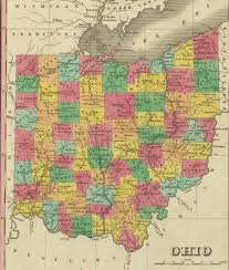 Map Of Ohio by 1831 Ohio Map