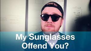Blind People Glasses Does A Blind Man U0027s Sunglasses Offend You Youtube