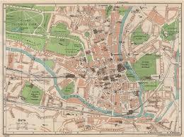 somerset map bath vintage town city map plan somerset 1950