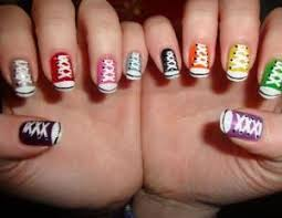 beautiful nail art fake nails colorful for little girls