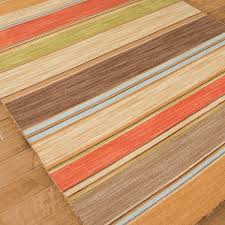 Light Yellow Rug Multi Color Stripes Dhurrie Rugs Shades Of Light