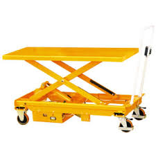 china electric large foot pump type scissor lift table cart