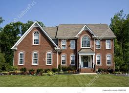 modern brick house residential architecture modern brick house stock picture