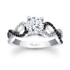 black and white engagement rings cheap black wedding rings barkevs black engagement