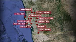 Traffic Map San Diego by Lockdowns Lifted At All San Diego Schools That Received Threats