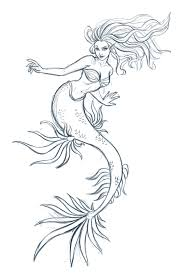 mermaid sketch by iara art on deviantart