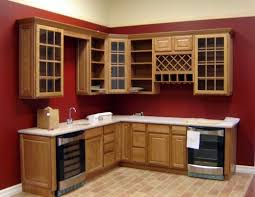 red kitchen wall painted wood frame kitchen cupboard doors in mth