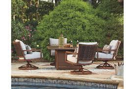 zoranne 5 piece outdoor fire pit set ashley furniture homestore