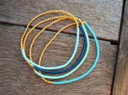 simple beaded bracelet images Items similar to simple stretchy seed bead bracelet gold and jpg