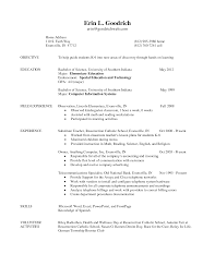 Resume Teacher Examples Sample Resume For Teaching Internship Augustais