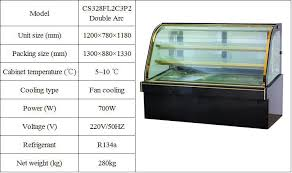 Refrigerated Cabinets Manufacturers Guangzhou Manufacturer Refrigeration Equipment Glass Showcase