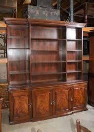 Break Front Bookcase Large Custom Built Breakfront Bookcase Antique Bookcases