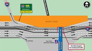 Illinois Toll Map by Jane Addams Tollway Work To Shift All Traffic To Eb Side