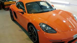 porsche cayman orange final gtechniq detail of the year porsche 718 cayman in lava