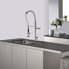 kraus commercial pre rinse chrome kitchen faucet faucet kpf 1602 in chrome by kraus
